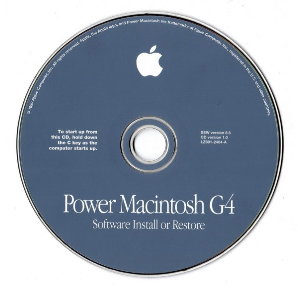 Installatie cd Power Macintosh G4