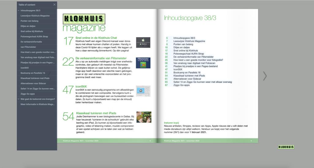 Klokhuis Magazine bladerbare versie scherm3