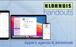 Handout Lezing Agenda en adresboek