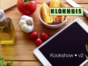Hand-out Kookshow 15 april 2021